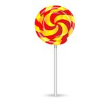 Bright lollipop on a white background Royalty Free Stock Images