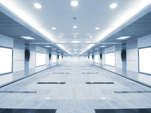 Bright long corridor Stock Image