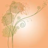 Bright lotus flower pattern Stock Image