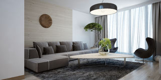 Bright lounge modern style Stock Photography