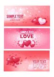 Bright Love Festive Horizontal Banners Royalty Free Stock Image