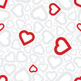 Bright love red heart seamless background Royalty Free Stock Photo