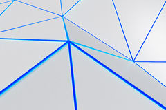 Bright low poly displaced surface with glowing connecting lines. Abstract futuristic background made of polygonal shape. Bright low poly displaced surface with Royalty Free Stock Photo