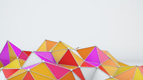 Bright low poly shape 3D rendering. Bright low poly shape. Abstract 3D rendering vector illustration