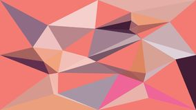 Almond Beige Low Polygon 2D Animation vector illustration