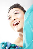 Bright and luminous fashion portrait royalty free stock photo