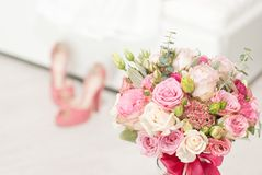 Bright luxury wedding flowers background Royalty Free Stock Image