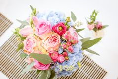 Bright luxury wedding flowers background Stock Photography