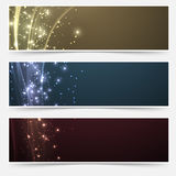 Bright magic shimmering headers collection Royalty Free Stock Photos