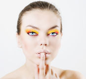 Bright make-up Royalty Free Stock Image