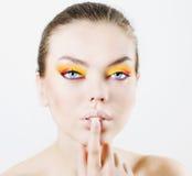 Bright make-up Royalty Free Stock Image