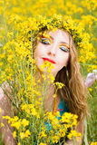 Bright make-up Stock Images