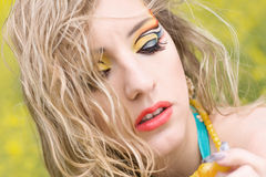 Bright make-up stock photography