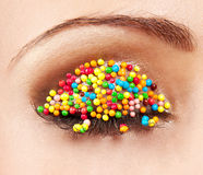 Bright makeup Royalty Free Stock Photography