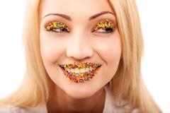 Bright Makeup Stock Image
