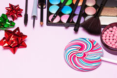 Bright makeup for birthday party Royalty Free Stock Images