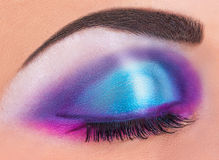 Bright makeup Stock Image