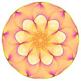 Bright mandala. On the white background Royalty Free Stock Photos