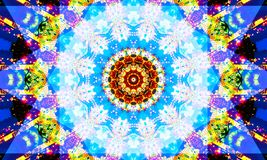 Bright mandala Art with repetitive shapes. A really bright mandala Art with repetitive shapes and kaleidoscopic patterns royalty free illustration