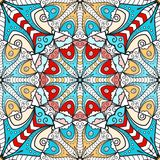 Bright mandala seamless pattern Stock Photos