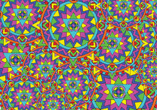 Bright mandalas background Stock Photo