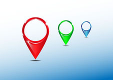 Bright map pointers vector illustration. EPS10 Royalty Free Stock Image