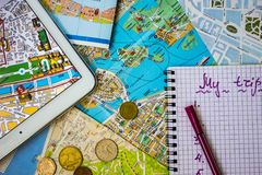 Vacation budget. Stock Images