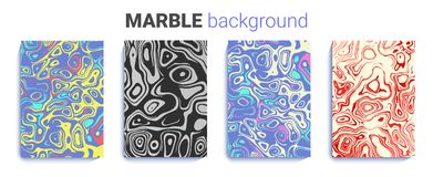 Bright marble texture. abstract natural ink background set. a4 background for brochure, wedding invitation.. Illustration Stock Photography