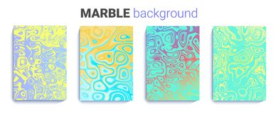 Bright marble texture. abstract natural ink background set. a4 background for brochure, wedding invitation. vector. Illustration Stock Photo