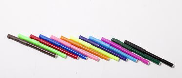 Bright markers on white Royalty Free Stock Image