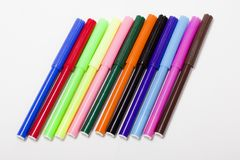 Bright markers on white Stock Image