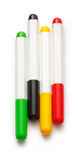Bright markers on white Royalty Free Stock Photos