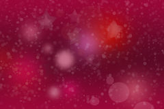 Bright marsala background with white snowflakes Stock Photography