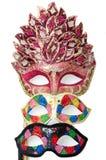Bright masquerade masks. Image shoeing brightly coloured masquerade masks stock images
