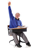 Bright Mature Student royalty free stock image