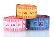 Bright measuring tape Stock Image