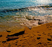 bright in mediterranean see greece island and the  background Royalty Free Stock Photography
