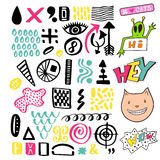 Bright memphis textures collection. Vector set for design decoration Royalty Free Stock Photo