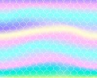 Bright mermaid pattern in princess colors stock illustration