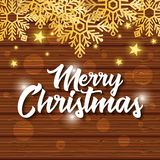 Bright merry christmas card. Vector illustration design Stock Photos