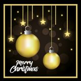 Bright merry christmas card. Vector illustration design Stock Images