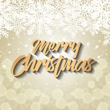 Bright merry christmas card. Vector illustration design Royalty Free Stock Image