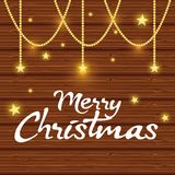 Bright merry christmas card. Vector illustration design Stock Photography