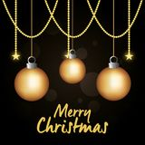 Bright merry christmas card. Vector illustration design Royalty Free Stock Photo