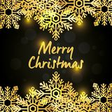 Bright merry christmas card. Vector illustration design Royalty Free Stock Photos