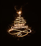 Bright Merry Christmas greeting with text Royalty Free Stock Photography