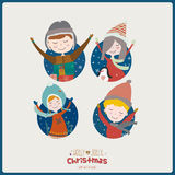 Bright Merry Christmas and New Year card Royalty Free Stock Image