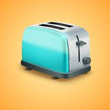 Bright Metal toaster. Vector Background Stock Photo