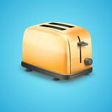 Bright Metal toaster. Vector Background Royalty Free Stock Image