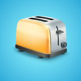 Bright Metal toaster. Vector Background Stock Image